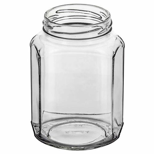 12oz oval hex clear angle 1000px