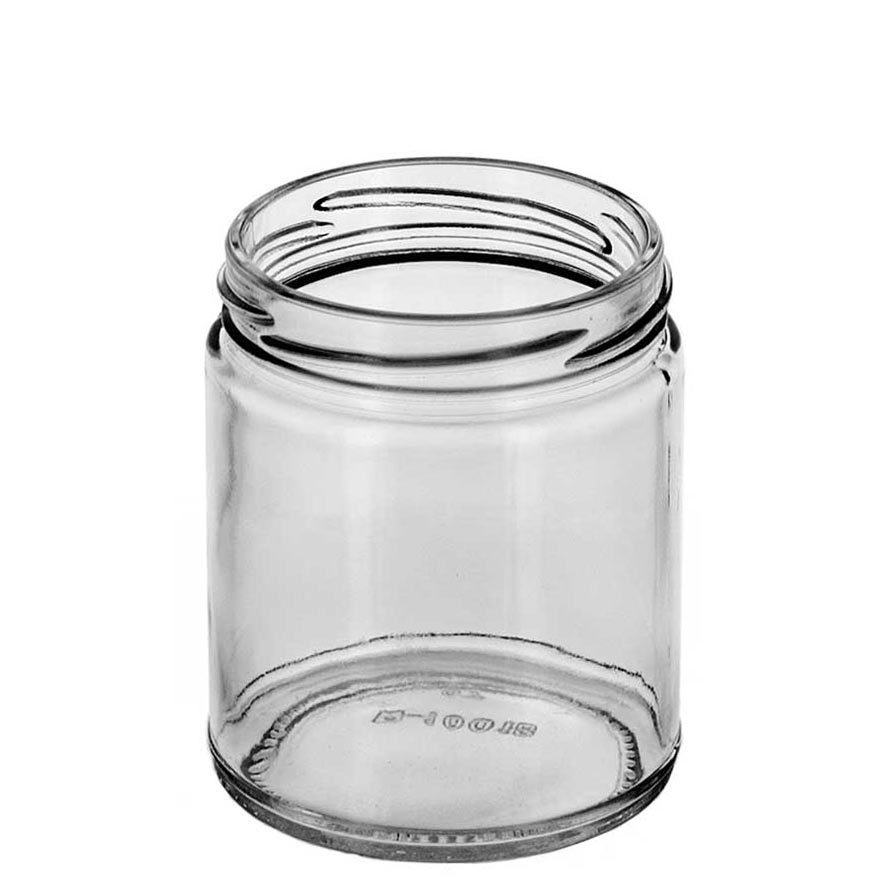 Inside view of Medium Straight Sided Jar with Twist Top
