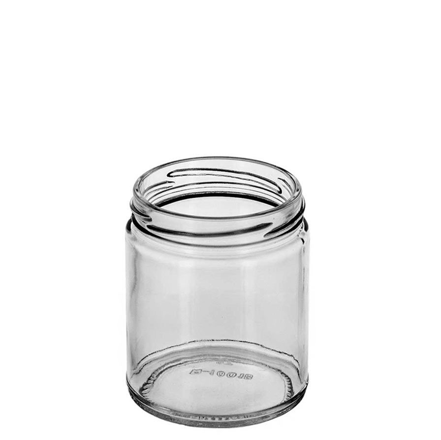 Small Straight Sided Jar view of the neck