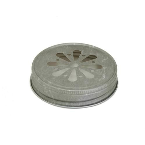 Pewter Daisy Jelly Lid