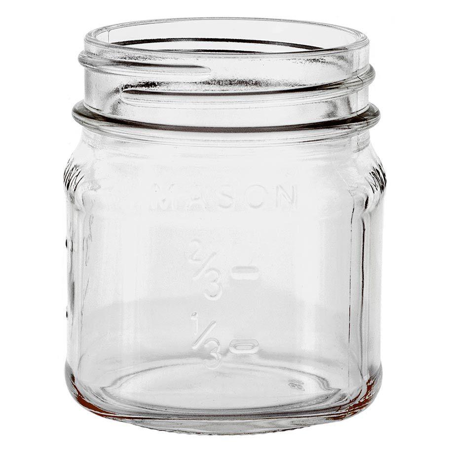 Label ready 8 oz. glass mason jar