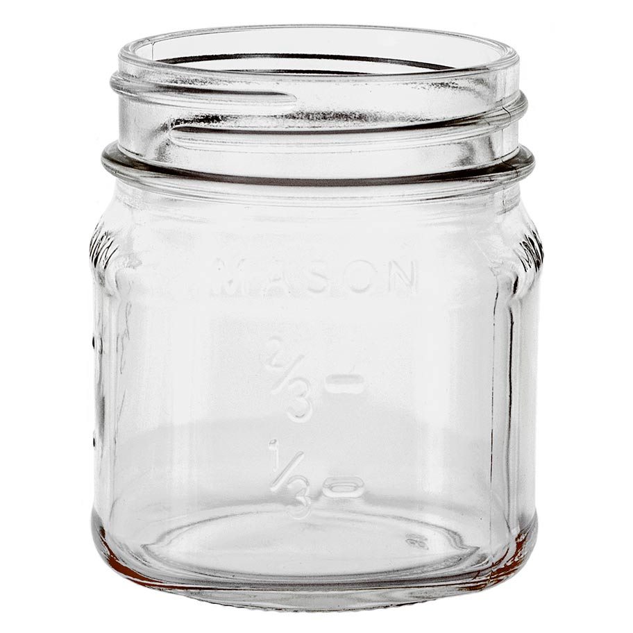 Mason Jars >> 8oz Mason Jar Label Ready Candlescience