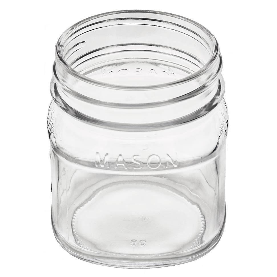 top, inside view of the 8 oz mason jar