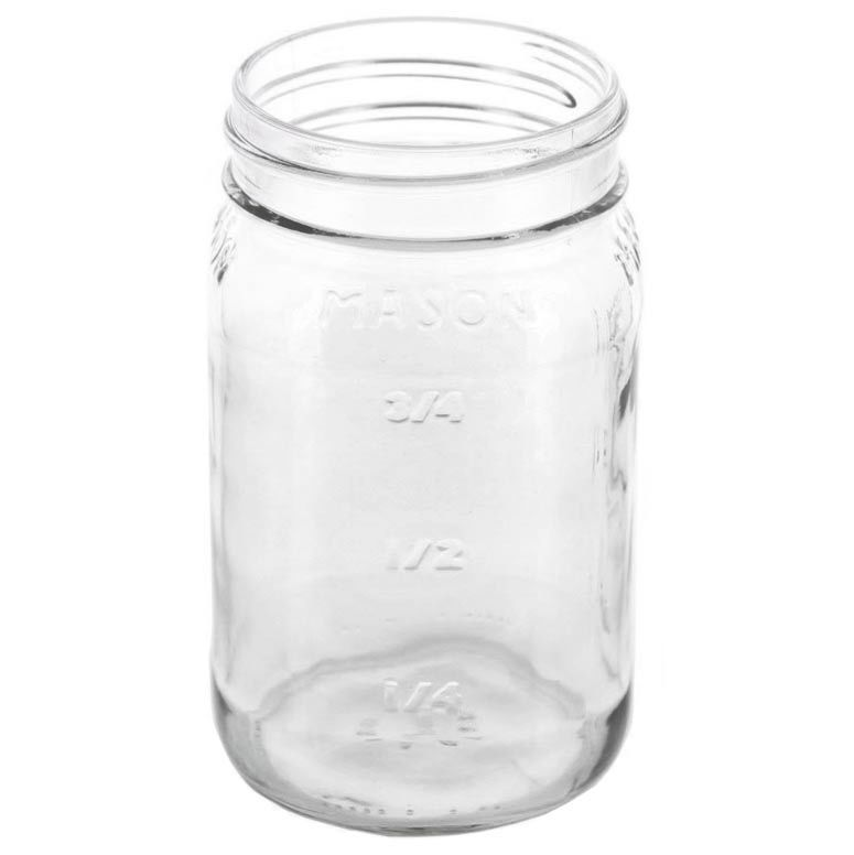 top view of 16 oz. glass mason jar