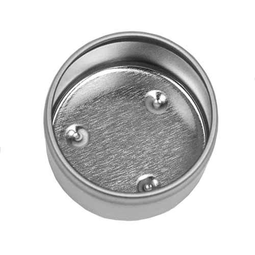 Inside view of 2 oz candle tin