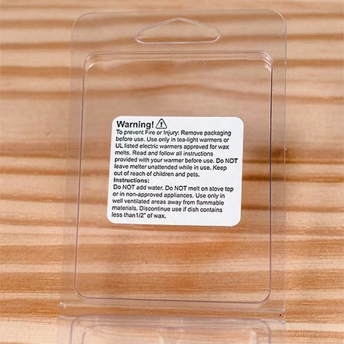 Wax melt label inner flap