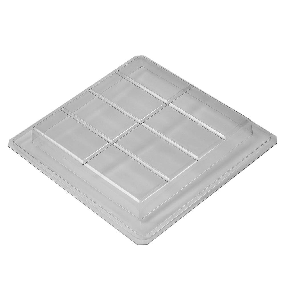 8 Bar Large Rectangle Slab Plastic Tray Mold
