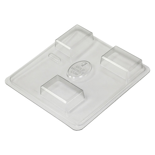 Beveled rectangle soap mold tray