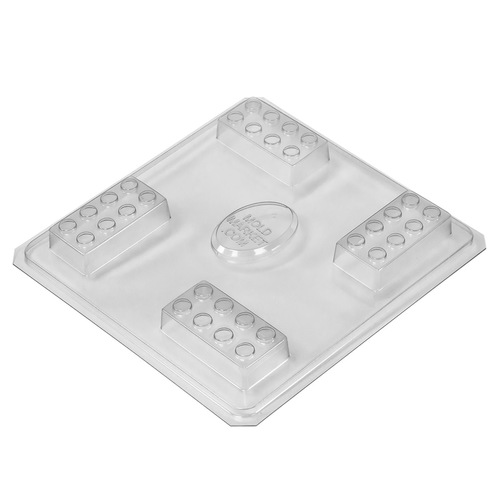 Building block soap mold tray