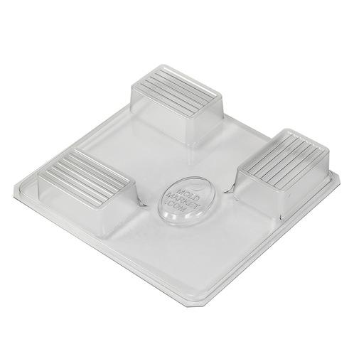 Groovy bar soap mold tray