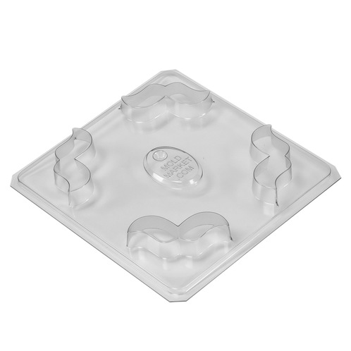 Mustache soap mold tray