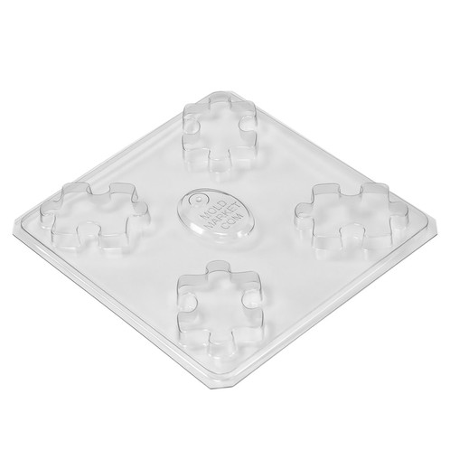 Puzzle piece soap mold tray