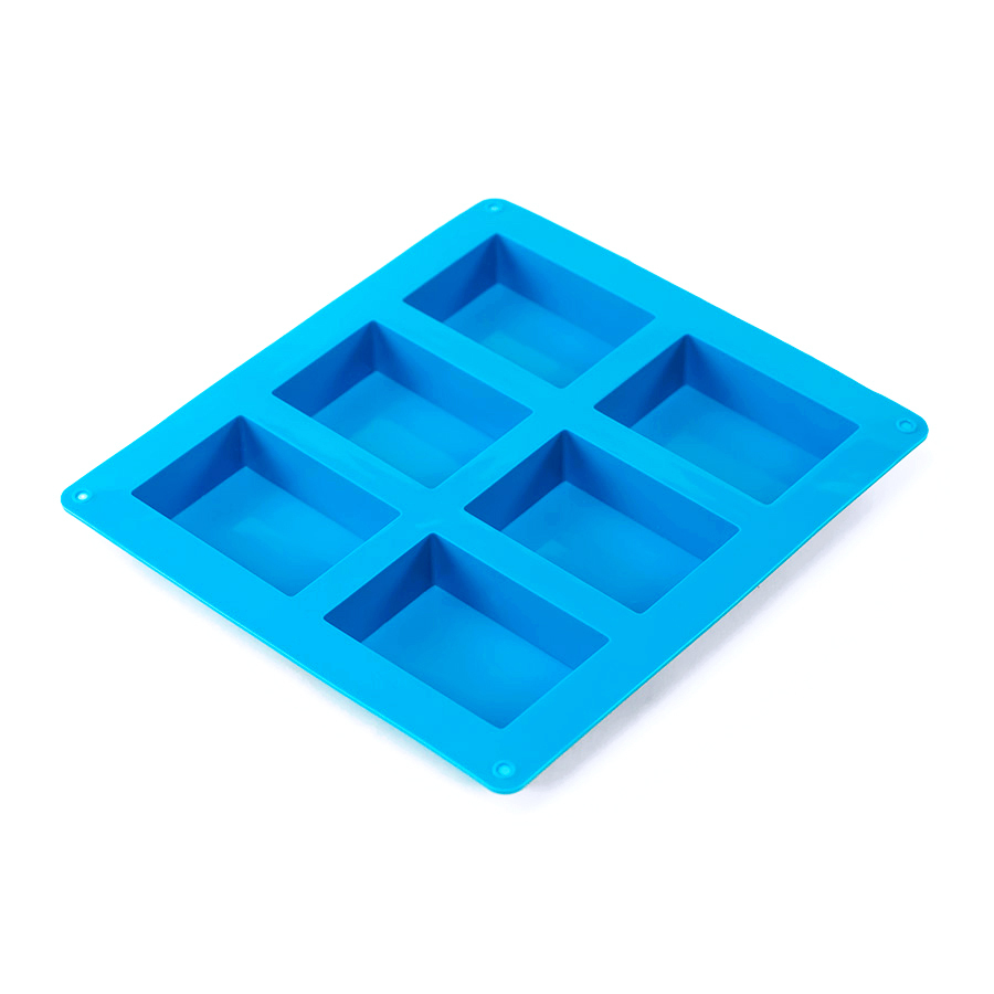 6 Bar Rectangle Silicone Soap Mold