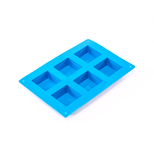 6 Bar Small Square Silicone Soap Mold