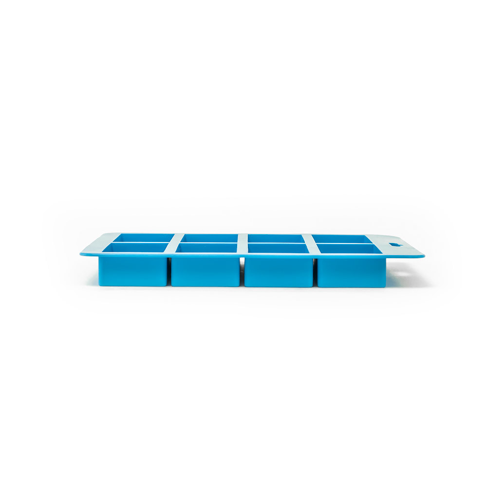 8 Bar Small Rectangle Silicone Soap Mold Side View