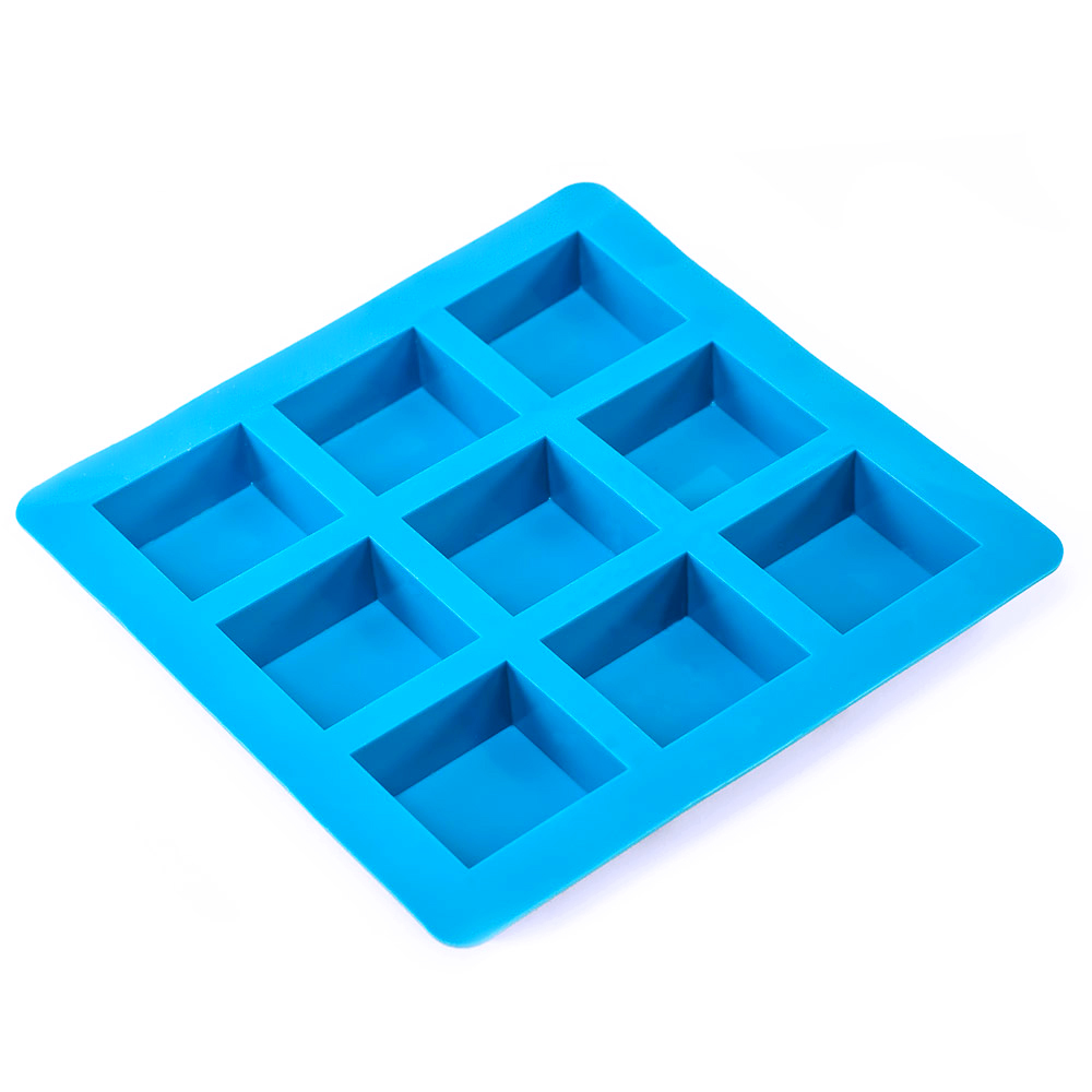 9 Bar Large Square Silicone Soap Mold