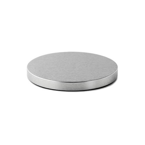 86 mm Silver Metal Flat Lid