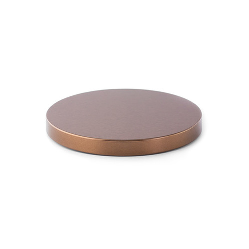 Bronze metal flat top lid