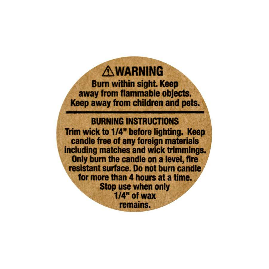 Kraft warning label 1.25 inch