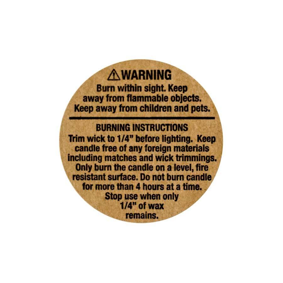 kraft warning labels 1 25 inch candlescience