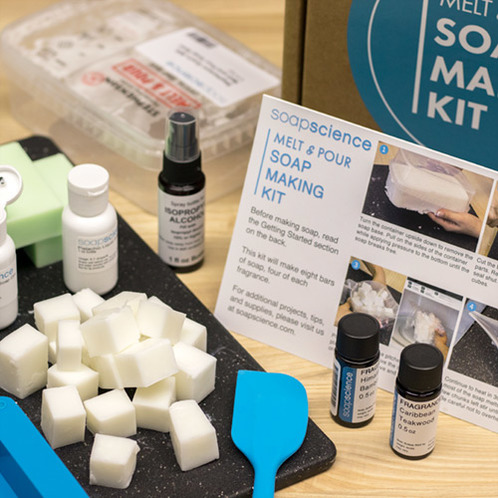 Melt and pour soap kit items