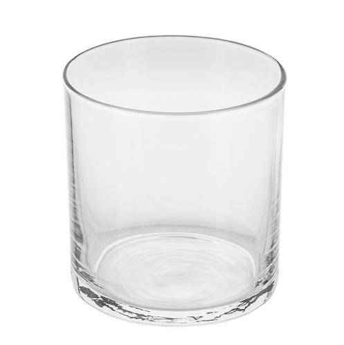 Clear straight sided jar angle