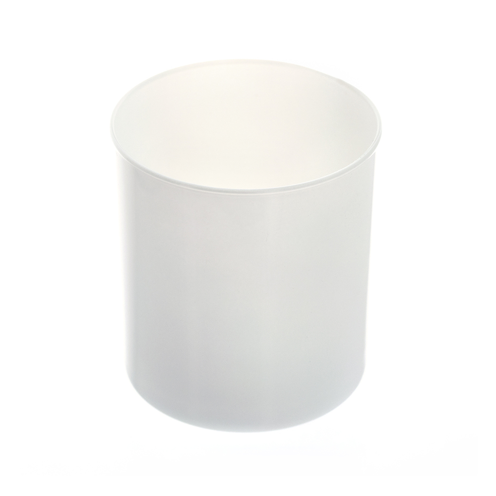 Top view of the white tumbler jar