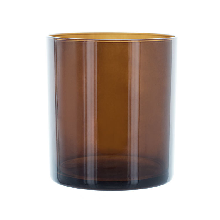 Amber Glass Straight Sided Tumbler Jar