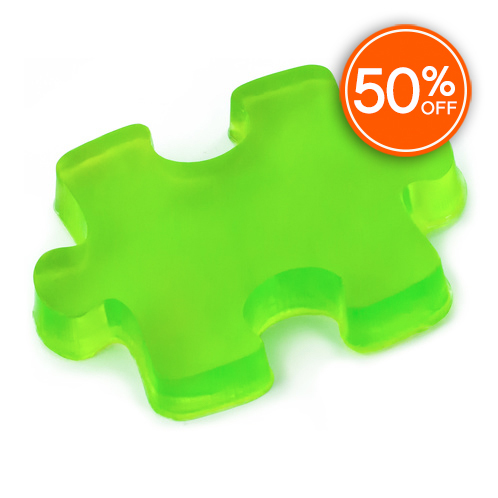 Puzzle piece soap mold 50  off