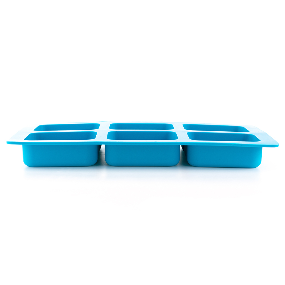 6 Bar Rounded Rectangle Silicone Soap Mold Side Profile