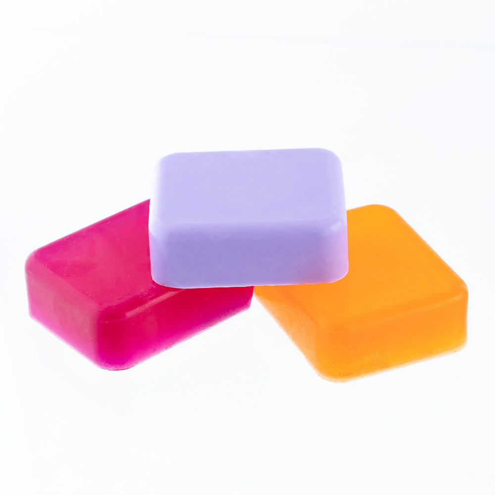 Rounded Rectangle Soaps Made with the 6 Bar Rounded Rectangle Silicone Soap Mold