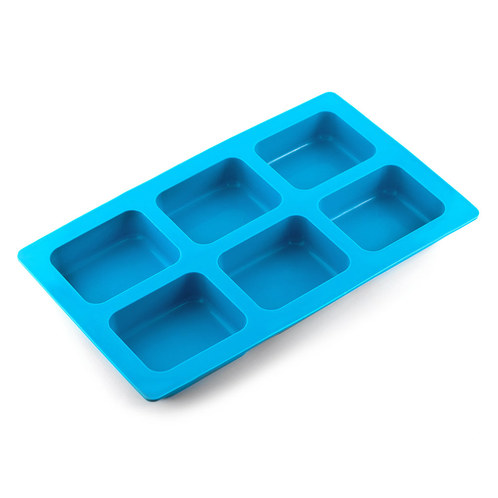 6 Bar Rounded Rectangle Silicone Soap Mold