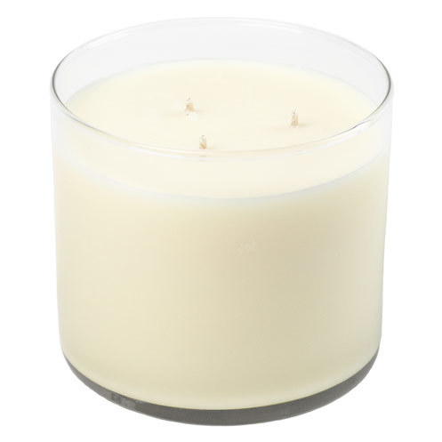 3-wick tumbler candle container with wax