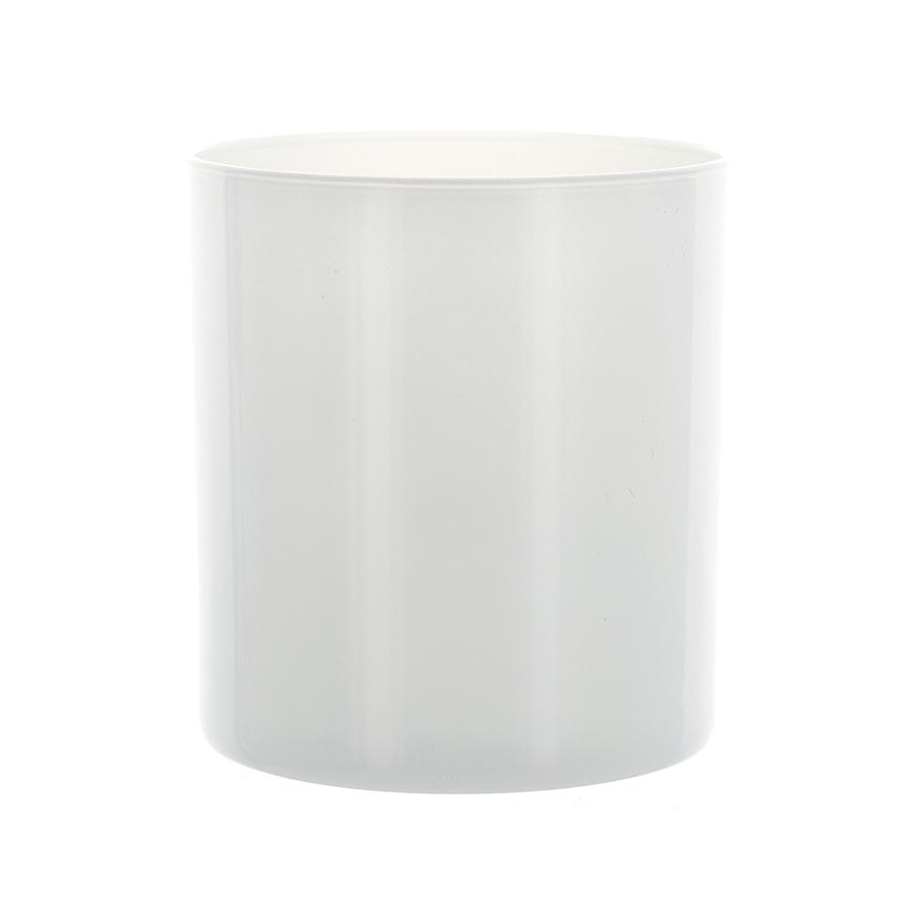 White candle tumbler jar