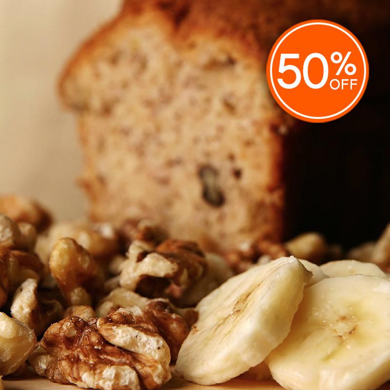 Banana nut bread 50  off