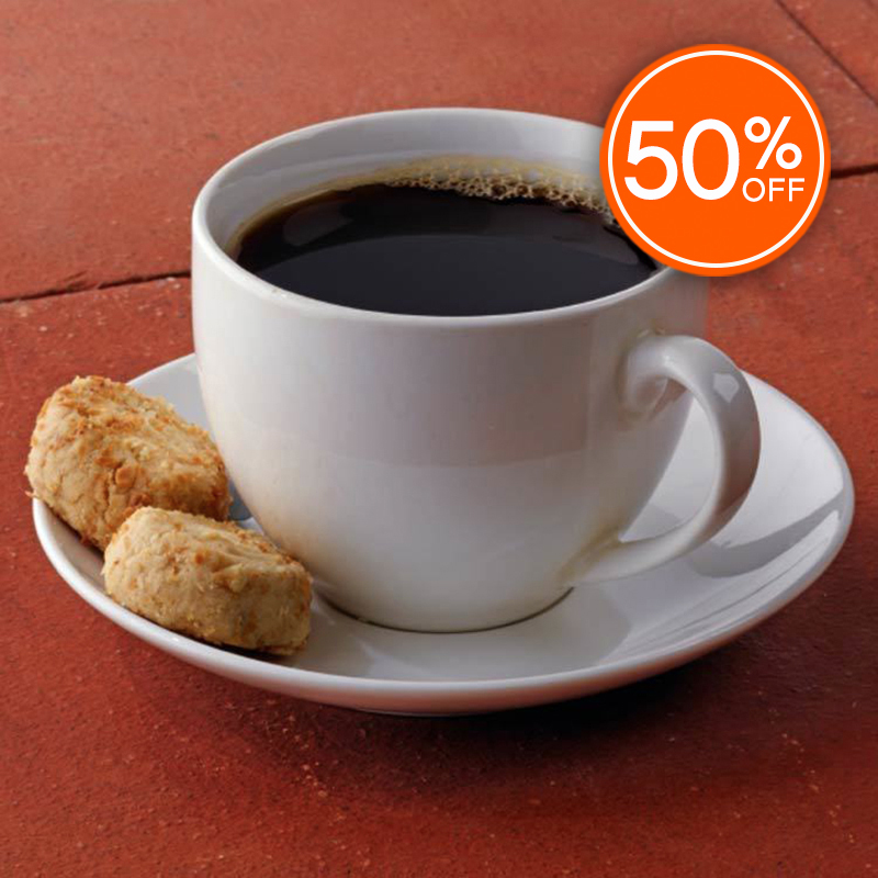 Hazelnut coffee 50  off