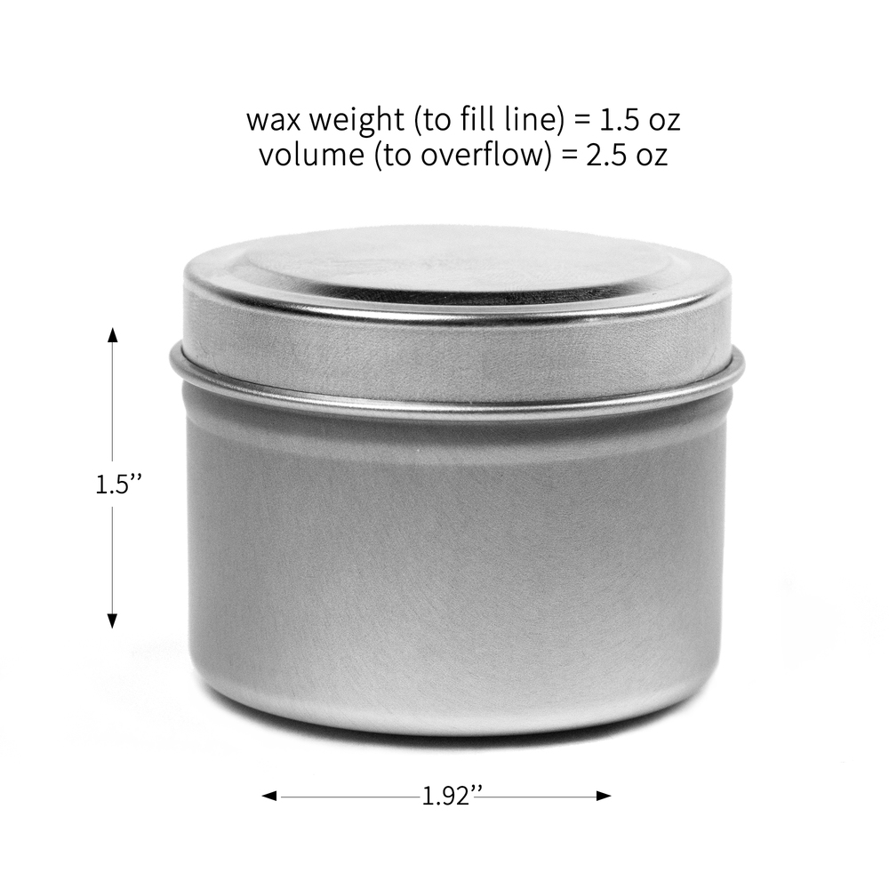 Metal Tins Container Perfect for Making Candles DIY 2 x Candle Tin Jars