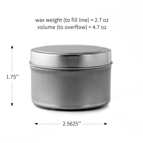 4oz candle tin with dimentions