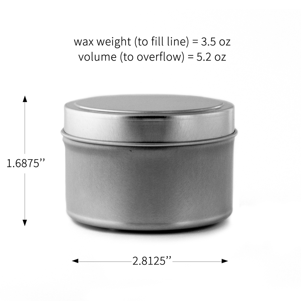 6 oz. Candle Tin Dimensions