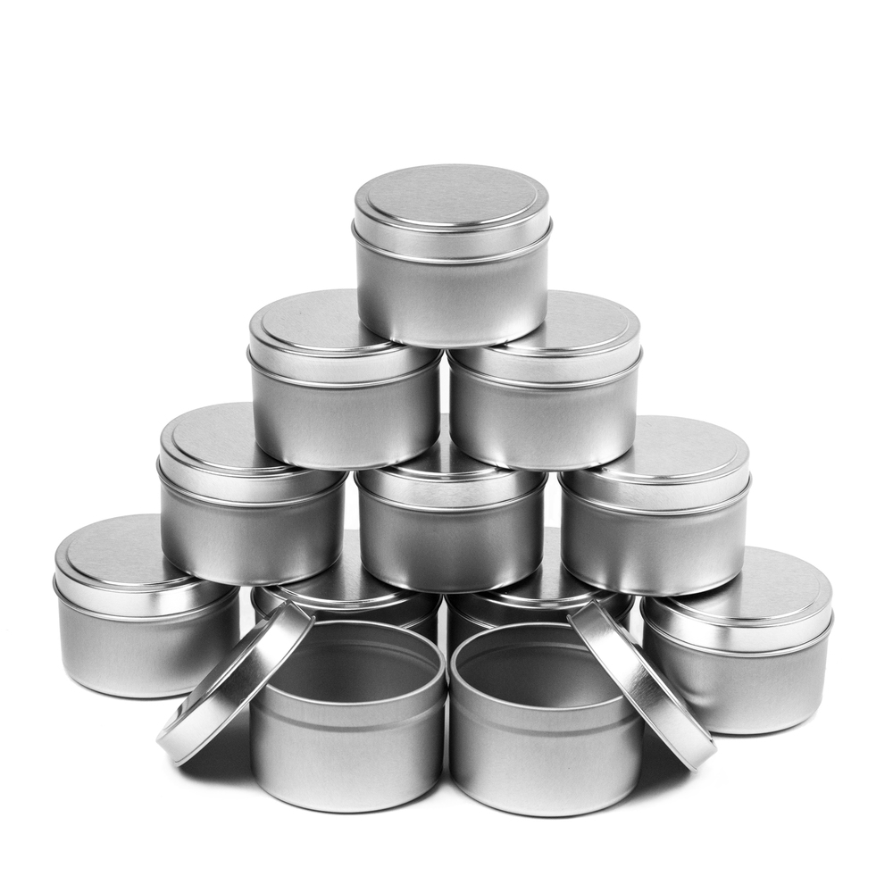 6 oz. Candle Tins 12 piece Case Stacked