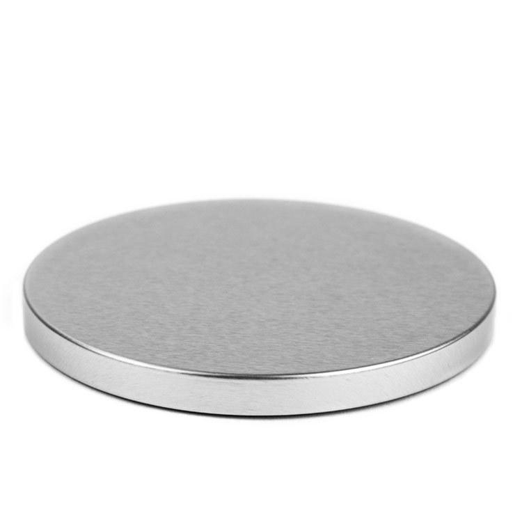 Silver Metal Flat Lid 3-Wick