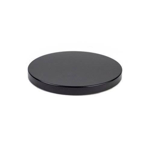 Black metal flat top lid web