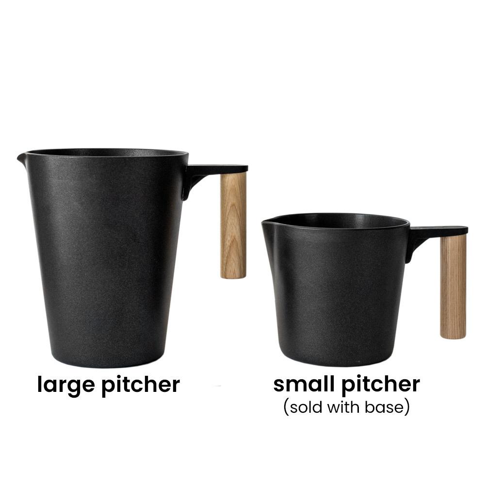Large Candle Maker Pitcher size comparison to 8oz. Pitcher