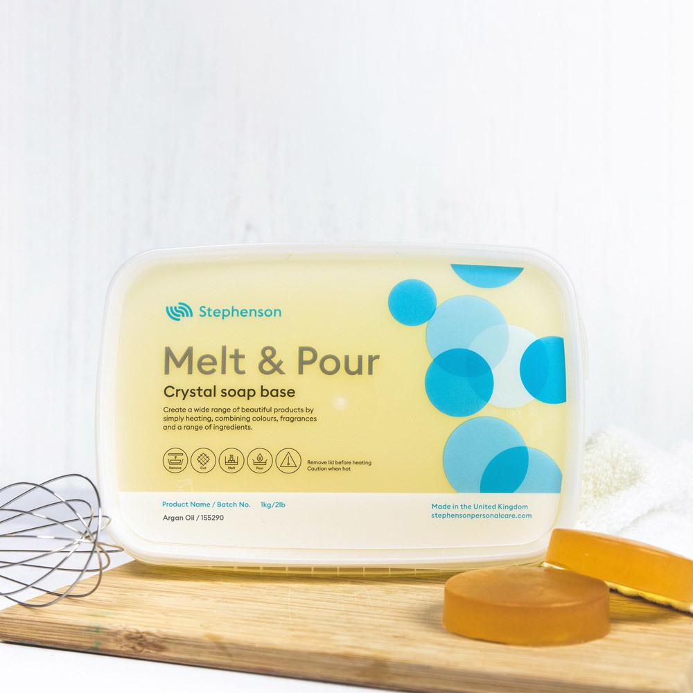 Stephenson Argan Oil Melt and Pour Soap Base in 2 lb. Tary