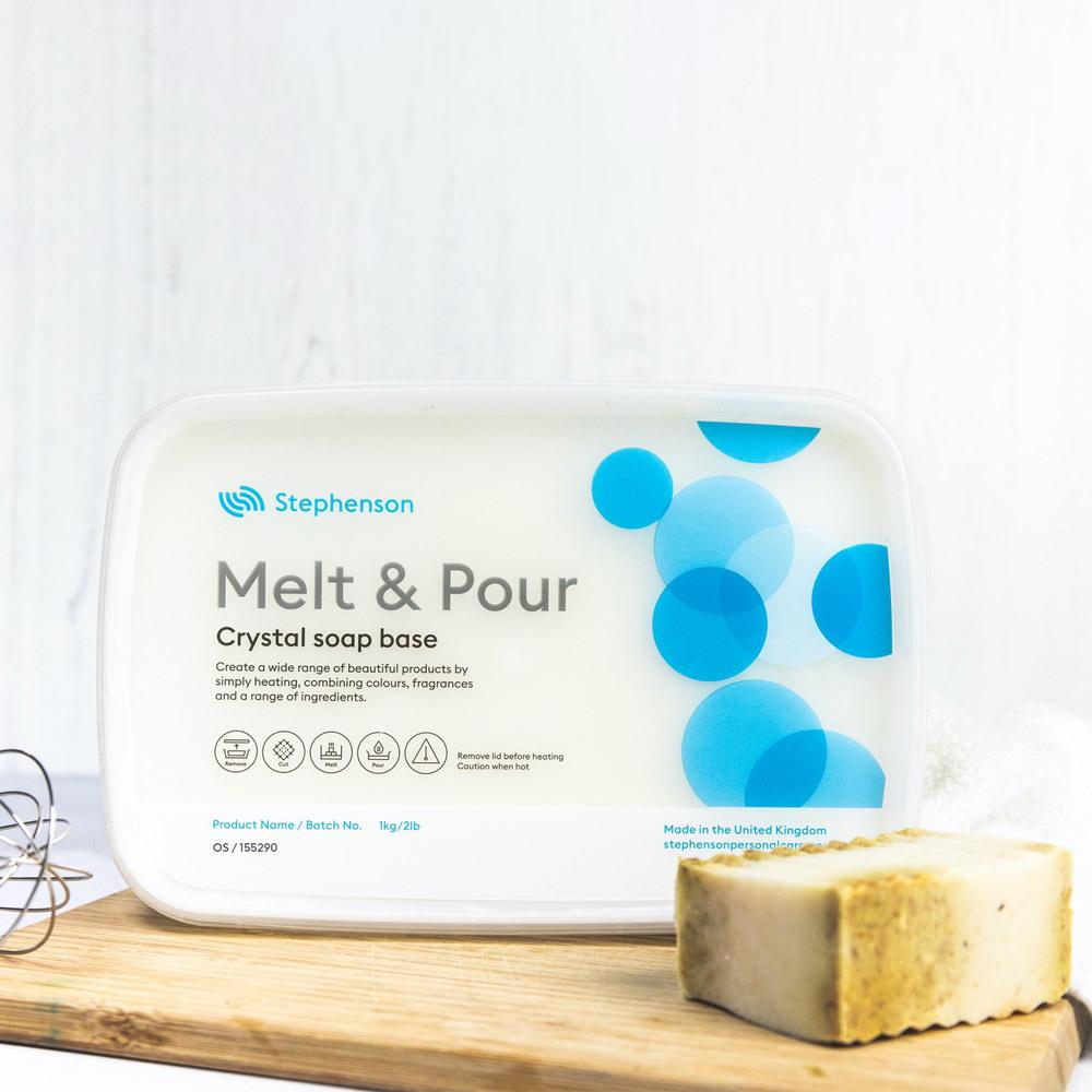 2 lb tray of Stephenson Oatmeal Shea Melt and Pour Soap Base