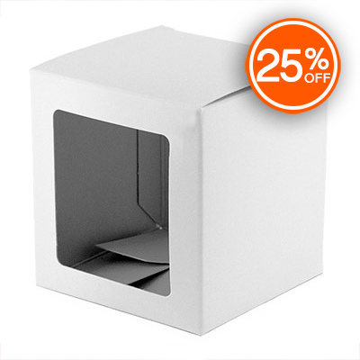 White Straight Sided Tumbler Box (Discontinued Version)