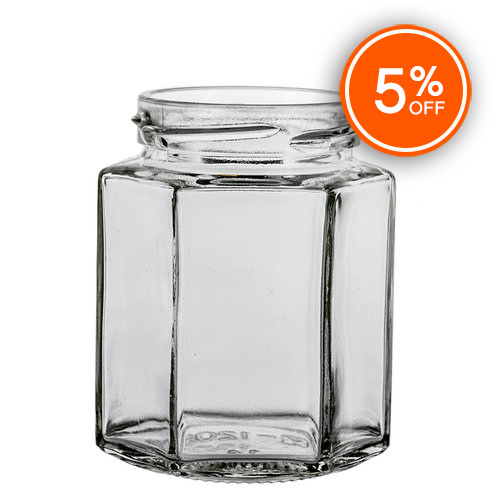 6 oz. Hex Jar (Discontinued)