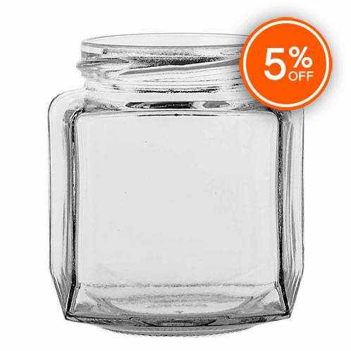 8 oz. Oval Hex Jar (Discontinued)