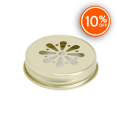 #70 G Gold Daisy Threaded Lid (Discontinued)