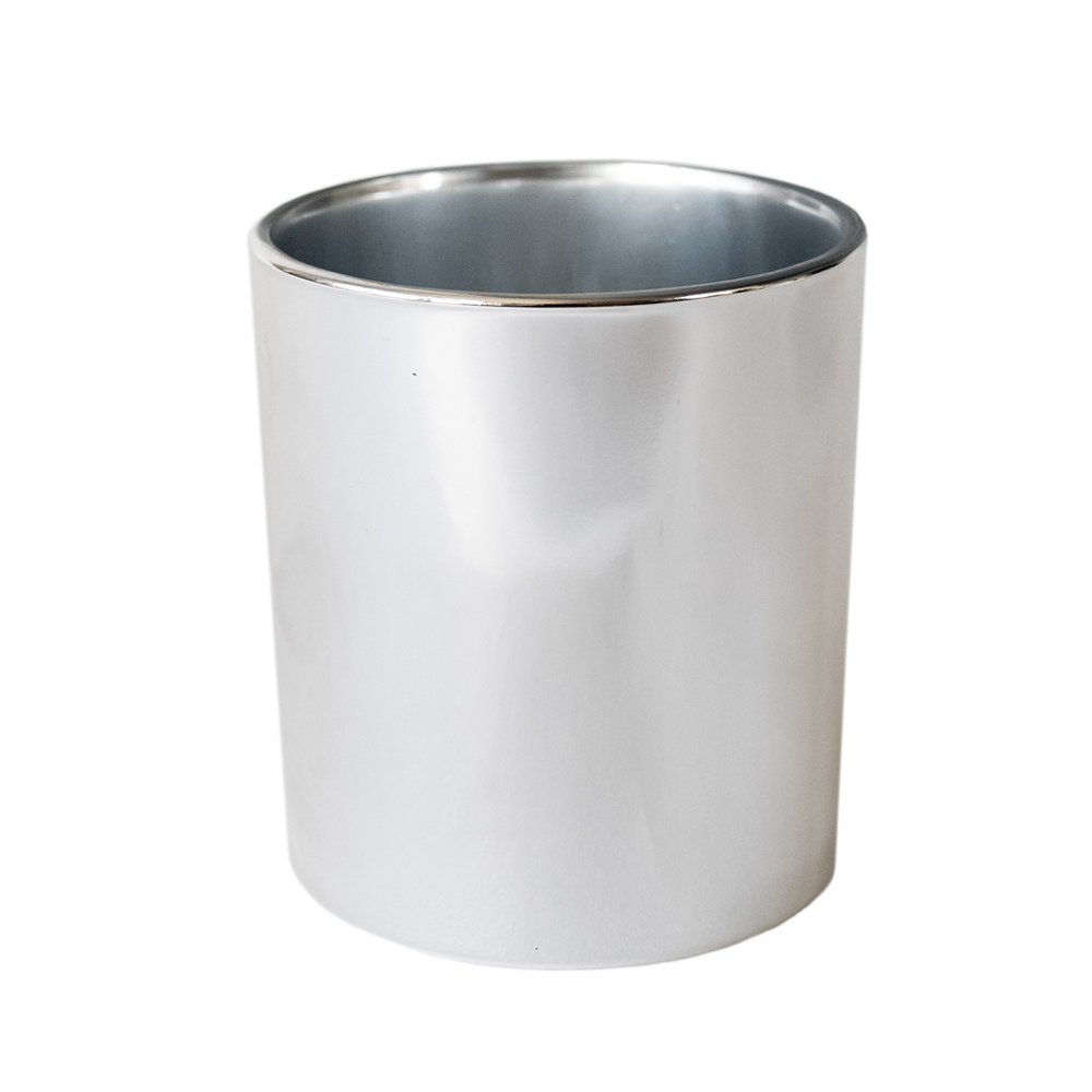 Silver Tumbler Jar Container